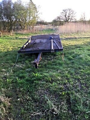 Bale or flat bed tractor trailer - light and double axle suit small holding