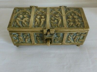 Decorated heavy solid Brass Box