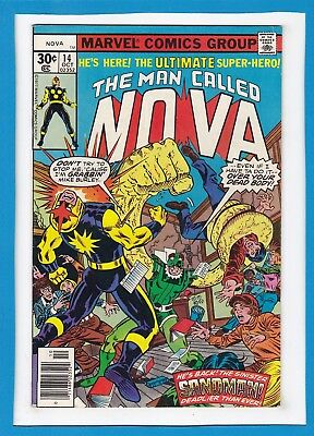 "The Man Called Nova #14_October 1977_Very Fine Minus_""the Sinister Sandman""!"