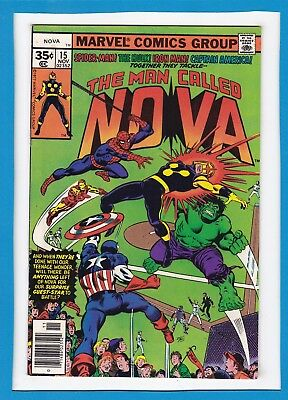 The Man Called Nova #15_Nov 1977_Vf_Spider-Man_Hulk_Iron Man_Captain America!
