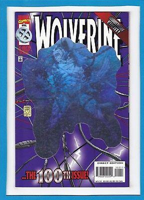"""WOLVERINE #100_APRIL 1996_VF_""""..THE 100th ISSUE""""_ANNIVERSARY EVENT_HOLOFOIL CVR!"""
