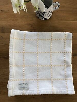 Brahms Mount for Serena & Lily Windowpane Baby Blanket, White & Yellow