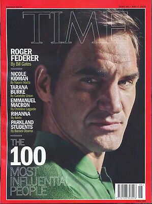 Time Magazine April 30 - May 7 2018 100 Most Influential People Roger Federer Ri