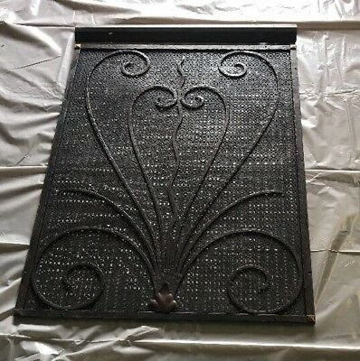 Exceptional Gothic French Art Deco Vent Wall Register Radiator Covers W/ Bronze