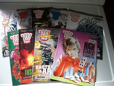 7 2000AD Comics featuring Judge Dredd from year 2007 Excellent Condition