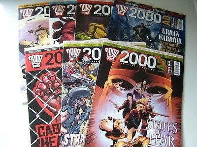 7 2000AD Comics featuring Judge Dredd from year 2008 Excellent Condition