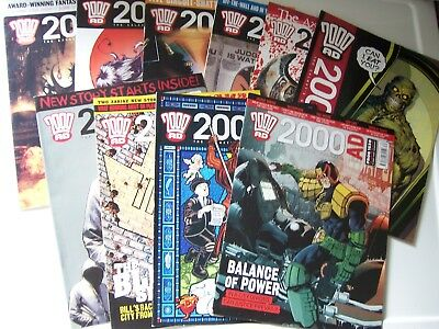 10 2000AD Comics featuring Judge Dredd from year 2009 Excellent Condition