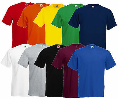 Fruit of the Loom Camiseta Hombre Valueweight Diferentes COLORES S - 5XL Nuevo