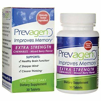 NEW Prevagen Extra Strength Chewables 30 Tablets  Mixed Berry FREE SHIPPING