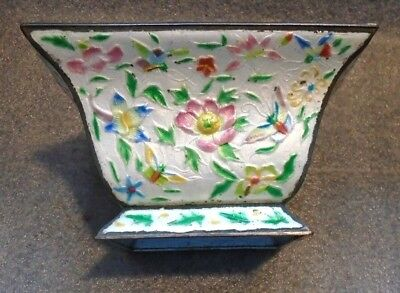 fine old Chinese enamel on copper bowl