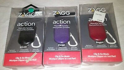 ZAGG Action Mini Wearable Portable Speaker – Rugged Bluetooth Clip And Go Music