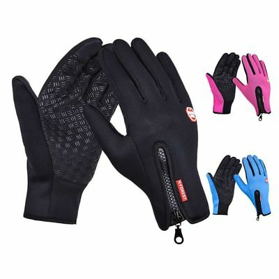 Men Women Winter Waterproof Insulated Gloves Warm Thermal Riding Mittens US