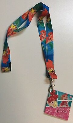 "Disney Little Mermaid Ariel Lanyard KeyChain 18.5""- Great For Pin Park Trading"