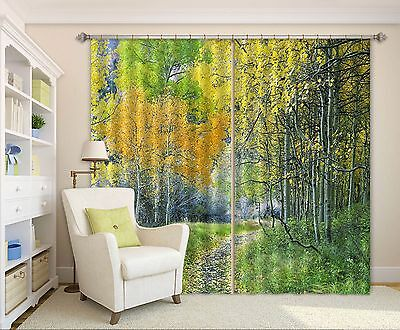 3D Forest Path 3Blockout Photo Curtain Printing Curtains Drapes Fabric Window CA
