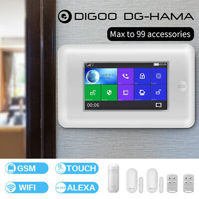 Digoo Full Touch Screen 433MHz SMS DIY Smart Home Burglar Security Alarm System