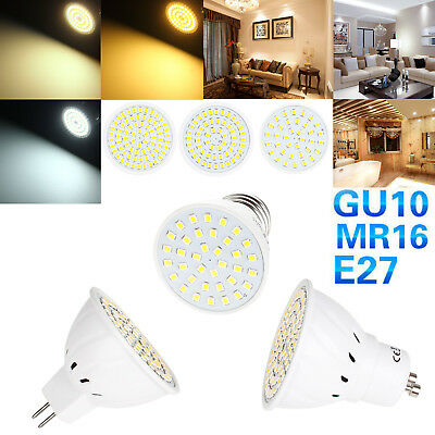 LED Spot Light Bulbs MR16 GU10 E27 110V 220V 24V 2835 SMD 4W 6W 8W Lamps Bright