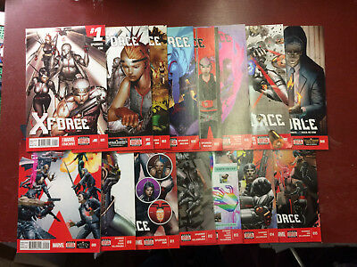 X-Force # 1-15 Marvel Now Full Run Comic Book Lot Cable Domino Deadpool Spurrier