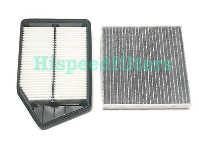 ENGINE&CARBONIZED CABIN AIR FILTER For HONDA ACCORD 13-17 ACURA TLX 2.4L 4CYL