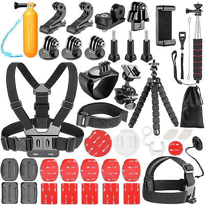 Neewer 54-In-1 Action Camera Accessory Kit for GoPro Hero Session Hero 3+ 4 5