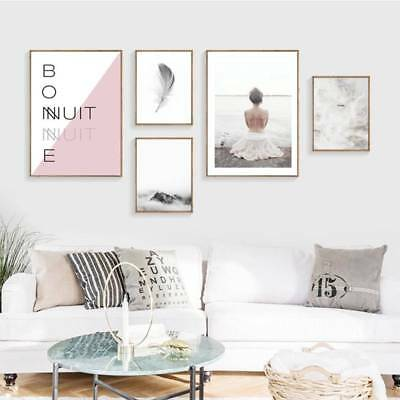 Nordic Abstract Canvas Unframed Art Art Poster Prints Painting Wall Home Decor