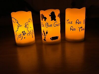 Beauty And The Beast Set Of 3 LED candles