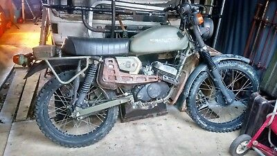 Peugeot SX8 Ex French Army Military 80cc Motorbike Trials Bike For Restoration