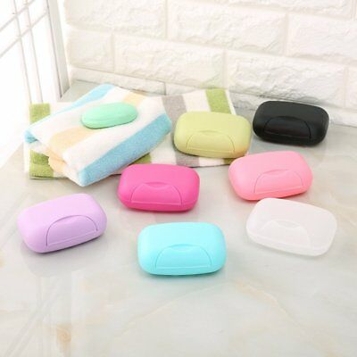 Bathroom Shower Travel Hiking Portable Soap Box Plate Holder Case Container CU