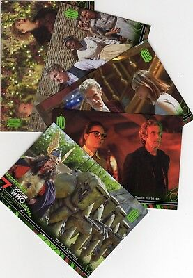 Doctor Who Topps Extraterrestrial Encounters Yellow & Green Parallel chase sets