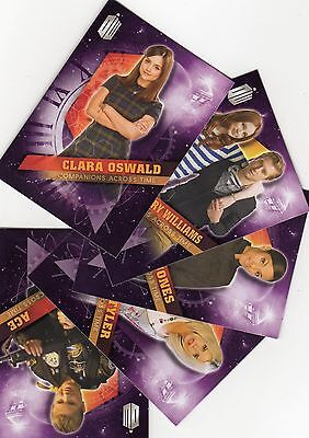 Doctor Who Topps Timeless Silver, Green & 3 chase Companions, Doctors, Daleks