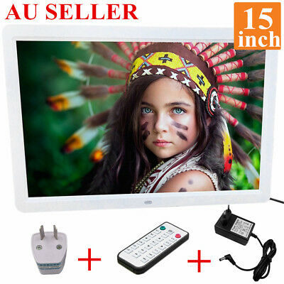 15 inch HD  LED Digital Photo Picture Frame MP3 MP4 Movie+Remote Control #OR