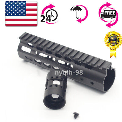 "US 7"" Ultralight KeyMod Handguard Free Float Rail With Nut for Rifle Hunting"