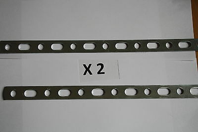 "2 X Exhaust Repair Metal Strip 12"" Long Heavy Duty Perforated Metal Strip"