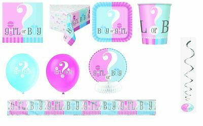 gender reveal party accessories tableware decorations baby shower girl boy
