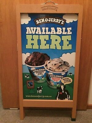 Ben and Jerrys Sign Collectable Rare Man Cave