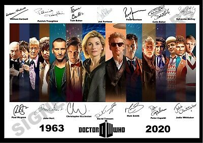 *new Listing* Stunning Quality Doctor Who Signed Print Dr Who All 14 Doctors