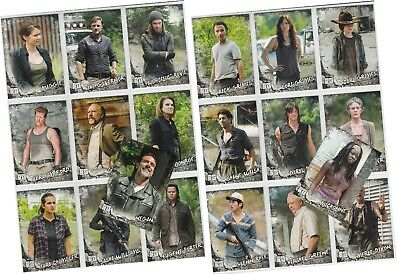 """Walking Dead: Road To Alexandria - 20 Card """"Characters"""" Chase Set C-1 - C-20"""