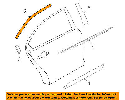 FORD OEM 10-15 Taurus Exterior-Rear-Upper Molding Trim Right AG1Z54255A60B