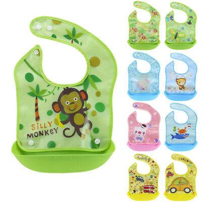 Baby Feeding Bibs Boys Girls Waterproof Smock Apron Saliva Towel Bib Detachable