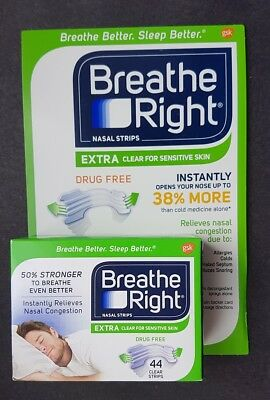 Breathe Right Extra Nasal Strips Clear - 44pk - For Sensitive Skin