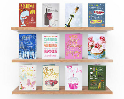 12 Assorted Birthday Greeting Cards Quality Occasion Friends Family Boy Girl NEW