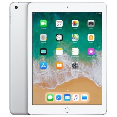 Apple iPad 9.7 2018 WiFi/WLAN 128GB Silver MR7K2FD/A IOS Tablet PC Retina