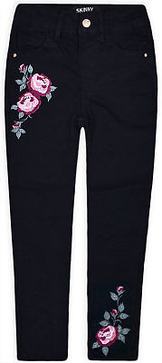 Girls New Stretchy Jeans Kids Rose Trousers Pants Skinny Bottoms 2 3 4 5 6 7 Yrs
