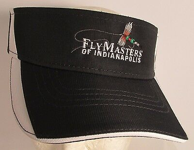 3fee0bee1cdb0 FlyMasters of Indianapolis Visor Type Hat Cap Fly Fishing USA Embroidery New