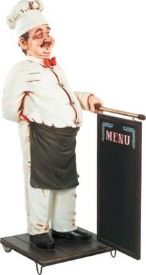 Chef Cook with Menu Sign Life Size - Food Sign - Restaurant Decor with Menu 6 FT