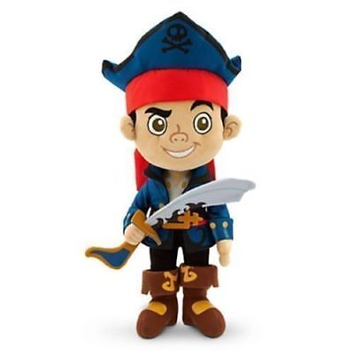 """Disney Store Captain Jake And The Never Land Pirates Jake 12"""" Plush Authentic"""