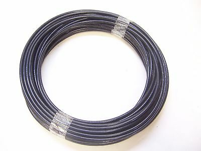 "Black NYLON Coated Cable,1/8""- 3/16"", 7x19, 50 ft for Fitness Machines"