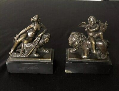 Antique Pair Of Miniature Classical Design Bronzes By E.G Zimerman Hanau