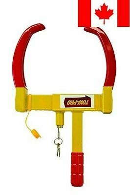 Towpro Wheel Lock Anti-Theft Claw - Heavy Duty Tire Clamp For Security (Yello...