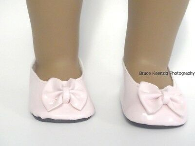 Pink Patent Slip On Bow Shoes 18 in Doll Clothes Fits American Girl