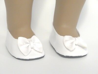 White Patent Slip On Shoes 18 in Doll Clothes Fits American Girl